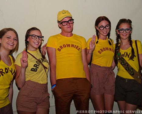 Cromer carnival fancy dress group dressed as brownies