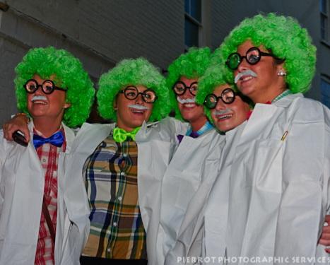 Cromer carnival fancy dress multiple Nutty professors