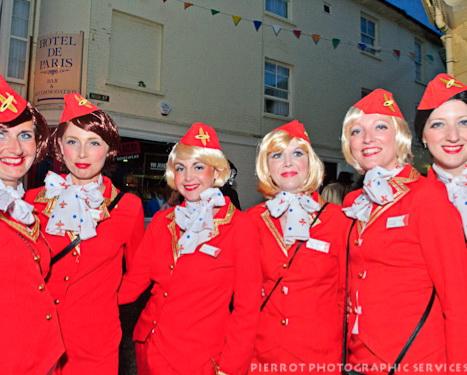 Cromer carnival fancy dress virgin girls