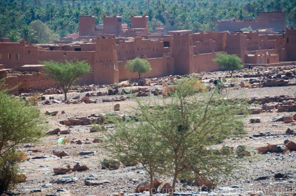 Moroccan village in the Draa valley, Morocco