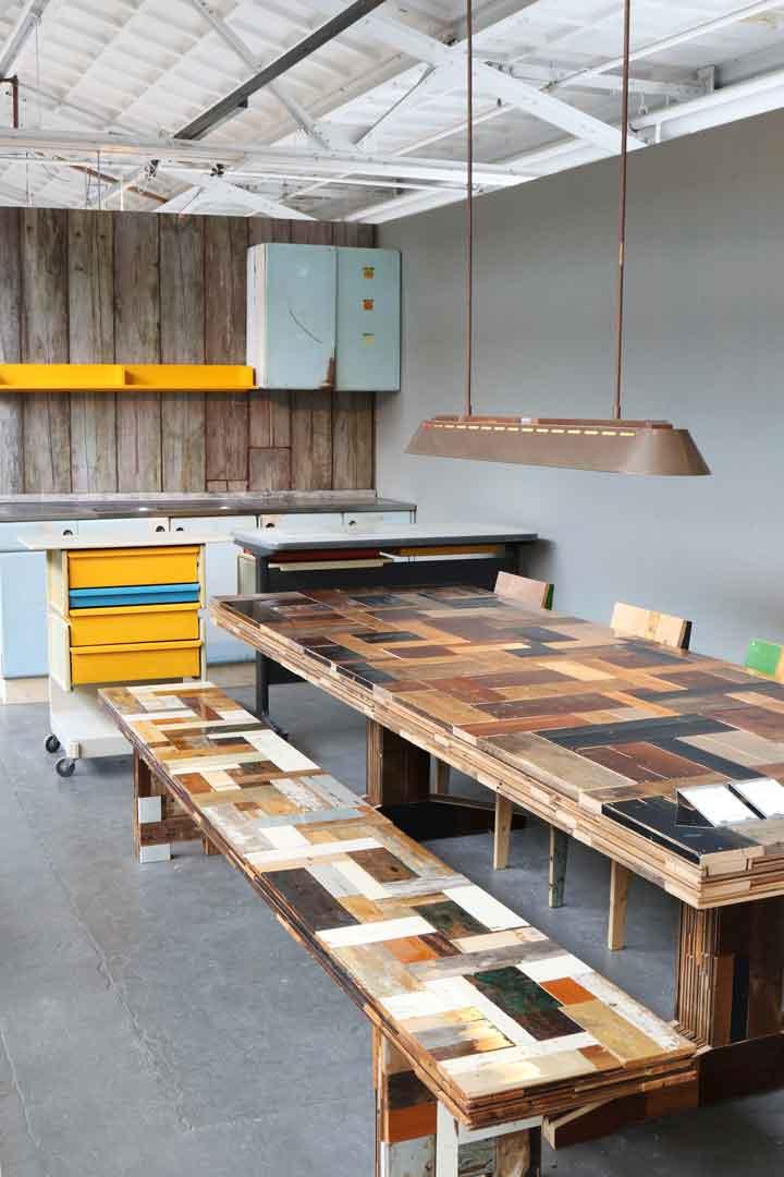 Waste Bench In Scrapwood Piet Hein Eek - Piet Van Eek
