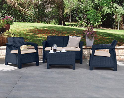 4 Seater Rattan Sofa Keter Corfu Rattan Sofa Outdoor Garden Furniture