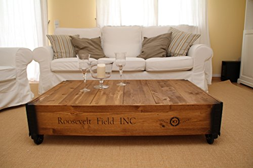 Couchtische Fischers Lagerhaus Table Basse Coffre En Bois Table D'appoint Vintage Style