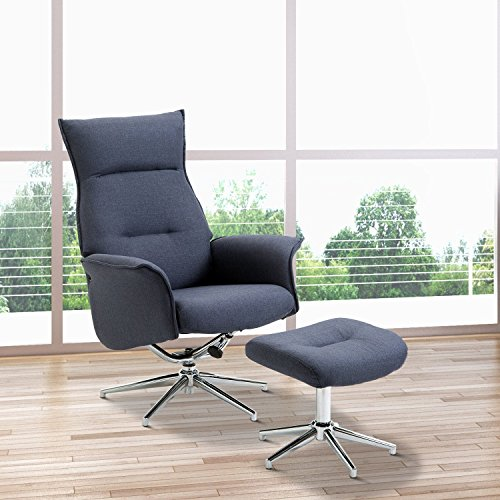 Fauteuil Relax Pivotant Design Homcom Fauteuil Relax Inclinable Pivotant Avec Repose-pied