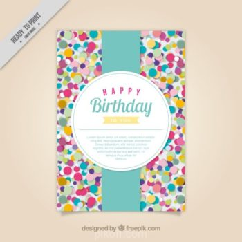 Happy birthday card design free download - Pikdone