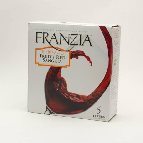 Franzia Fruity Red Sangria Box Wine 5l Beer Wine