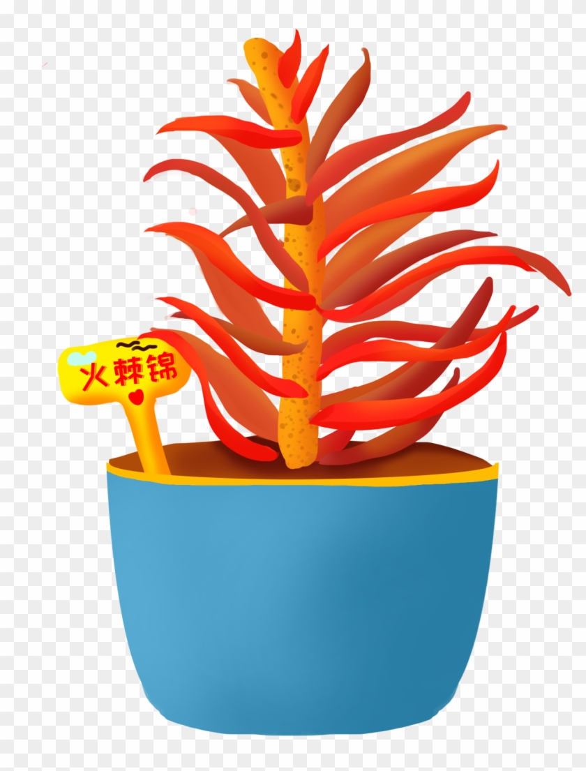 Flavor Potted Plants Hand Painted Png And Psd Plants Clipart 3219177 Pikpng