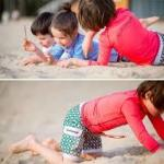 ラッシュガードは子供を守るために必要!!セパレートタイプの長袖が人気です!