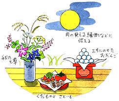 秋の七草十五夜