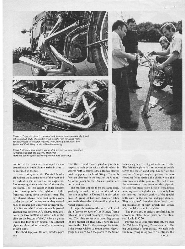 Honda CB750 Exhaust Test 004