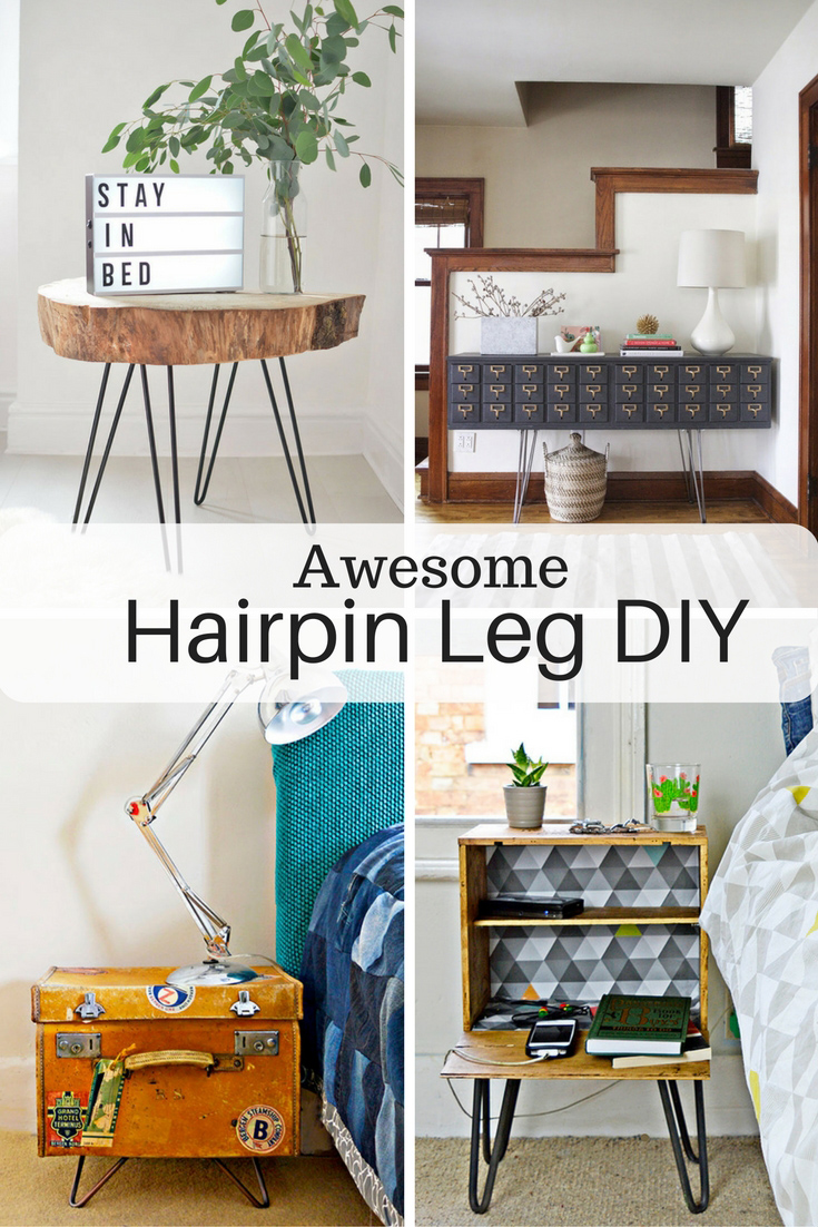 Diy Desk With Hairpin Legs Awesome Diy Furniture Ideas With Hairpin Legs Pillar Box Blue