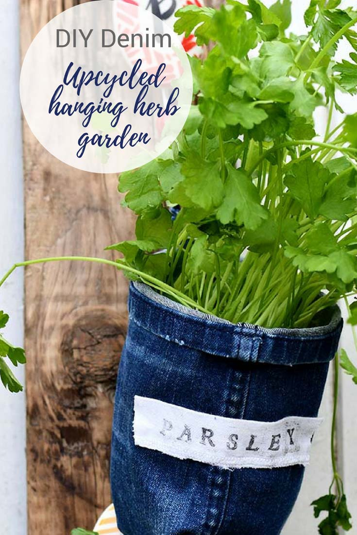 Planter For Herbs How To Make Indoor Herb Garden Planters From Denim Pillar Box Blue