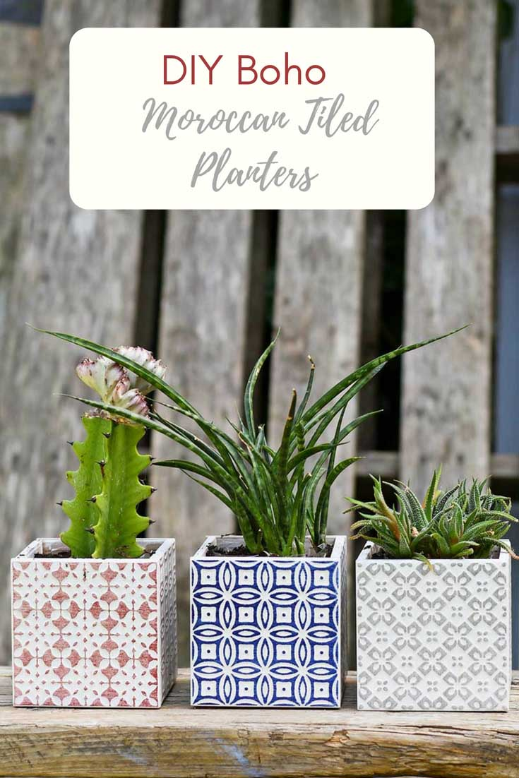 Simple Planters Make Beautiful Moroccan Planters In Under 10 Minutes Pillar Box Blue