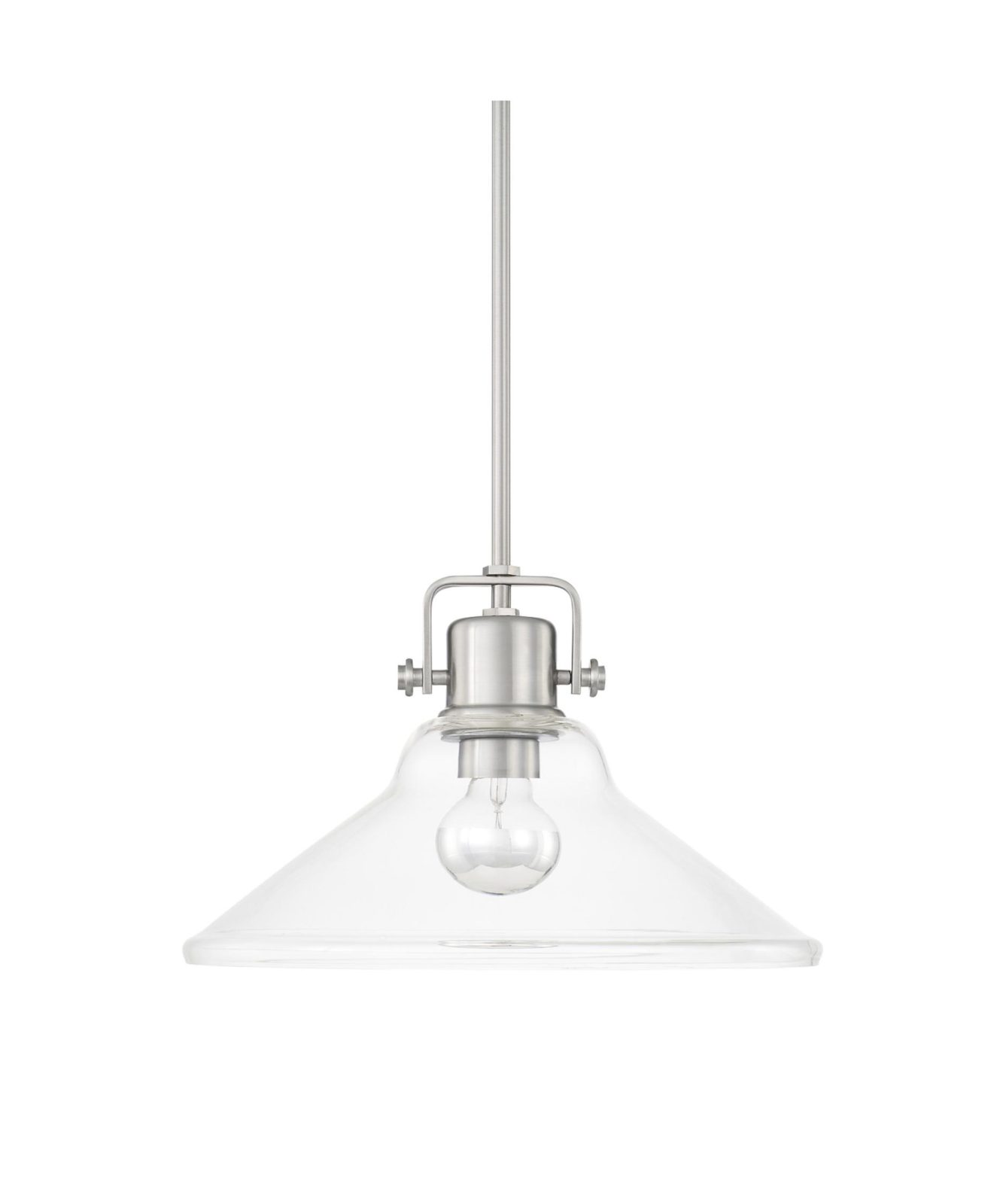 Pendant Lighting Brushed Nickel 16 1 Light Large Pendant In Brushed Nickel Pillar