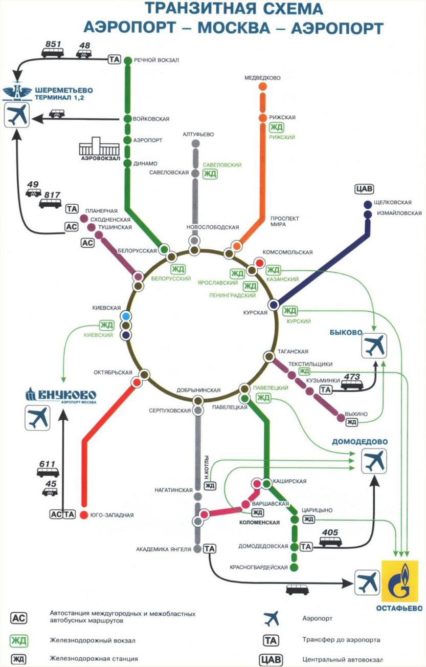 Схема маршрута от шереметьево до планерной