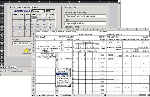 Davis-Bacon Certified Payroll \/ WH-347 Form Software - certified payroll form