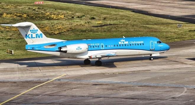 KLM Cityhopper Fokker 100 in Köln/Bonn