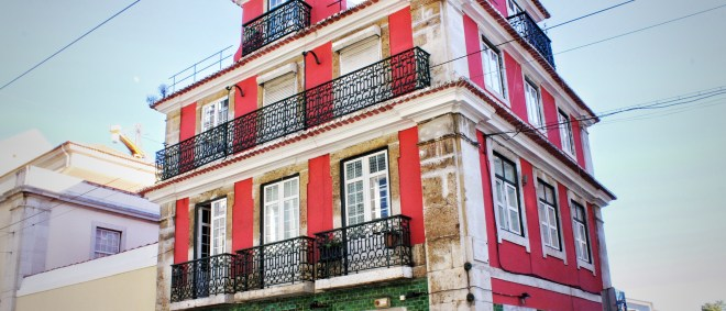 Rotes Haus in Lissabon