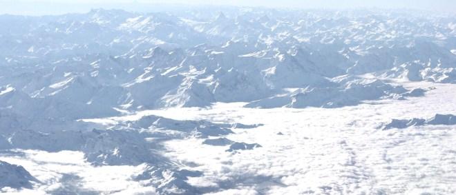 Matterhorn aus dem Cockpit Aussicht