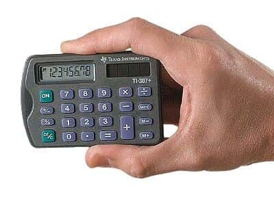 Texas Instruments TI-307+ Credit Card-Sized Calculator from Masterflex