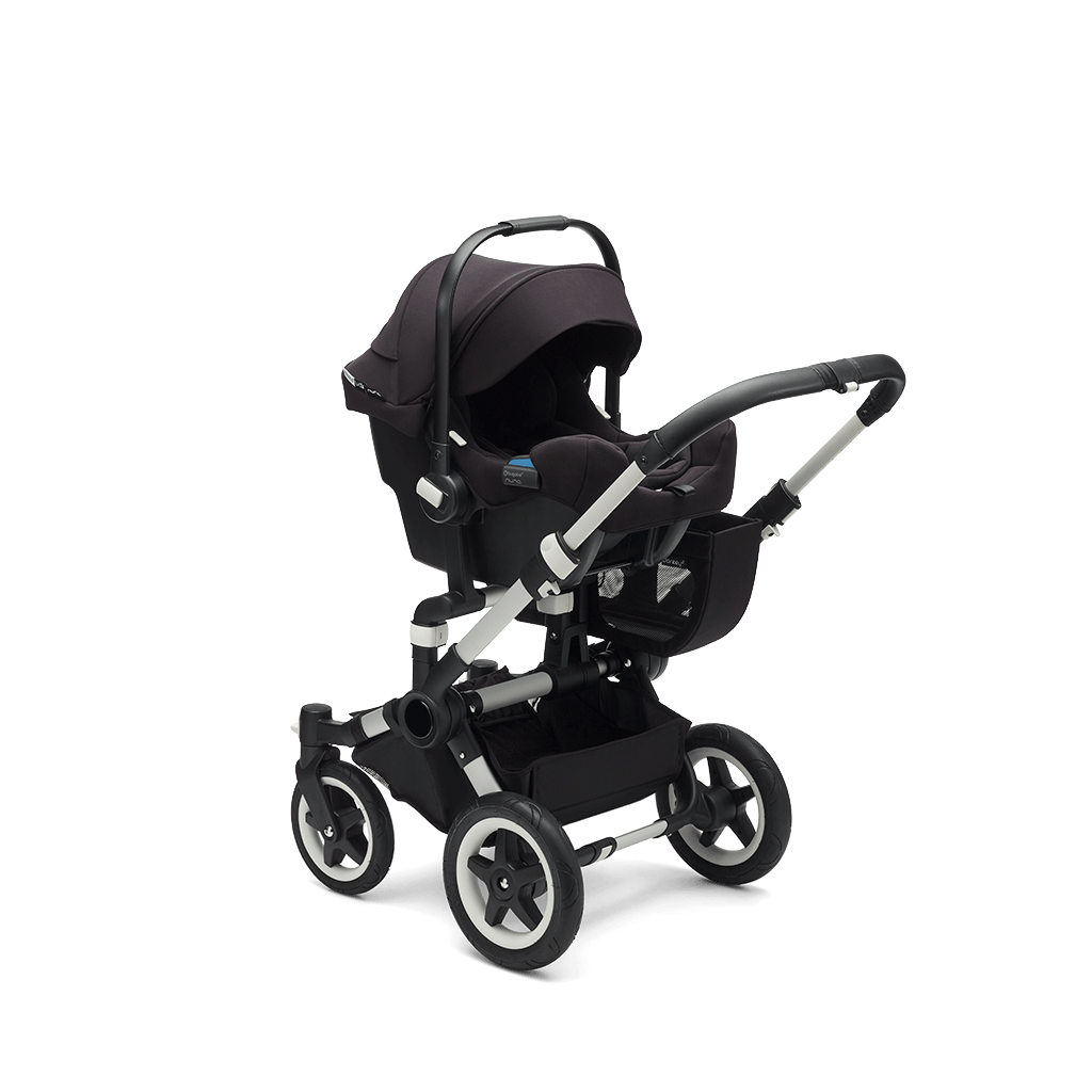 Bugaboo Donkey Duo Classic Bugaboo Donkey 2 Mono With Bugaboo Turtle By Nuna Classic Grey Mélange And Aluminium Chassis