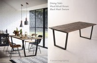Industrial Style Dining Room with Wood Mindi Brown Dining ...