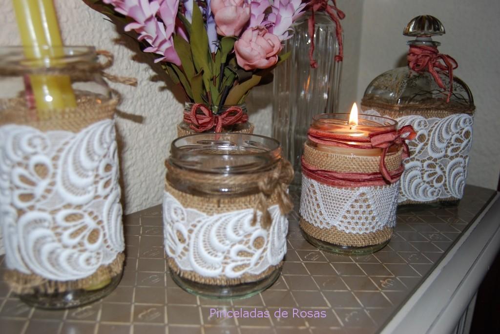 Dsc 0030 pinceladas de rosas - Decoracion de botellas ...