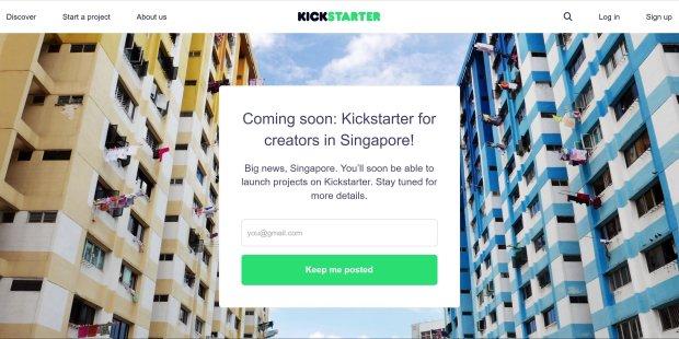 kickstarter in singapore