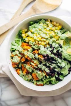 Dark Yum Mcdonald S Southwest Salad No Dressing Mcdonald S Southwest Salad Dressing Recipe This Healthy Spicy Southwestern Salad Recipe Has Roasted Spicy Southwestern Salad Avocado Dressing Recipe Pin