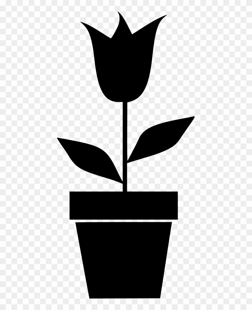 Unkraut Clipart Potted Plant Silhouette Flowers In Pot Clipart 736277