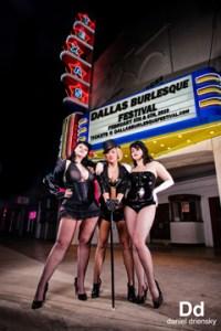 Dallas Burlesque Fest Producers (L-R Black Mariah, Elisa Davis, and Ginger Valentine)  Photo: Daniel Driensky
