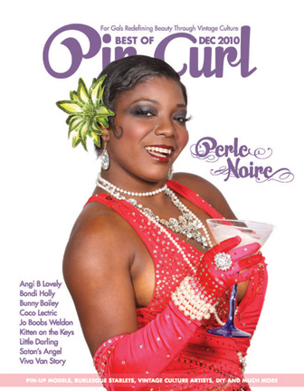 Perle Noire by DallasPinUp.com, MUA/H: Ladonna Stein. Cover Design: Jenni Leder