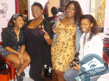 More Pin-Up Girl Cosmetics Staff (L-R): Angel Green, Kiah Clark, Kellyn Willey, Charlotte 'Charlii' Collins.