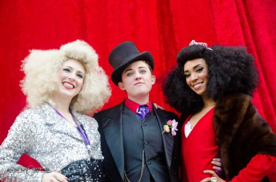 Team Show Me Burlesque Festival: (L-R) Lola Van Ella (Producer), Sammich the Tramp (Artistic Director), and Jeez Loueez (Associate Director). Photo: Anthony Sapone