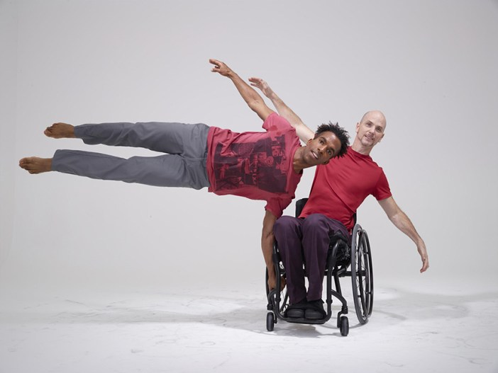 Axis Dance Company members Nick Brentley and Dwayne Scheuneman by David DeSilva