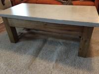 Concrete Top Coffee Table - Pine+Main
