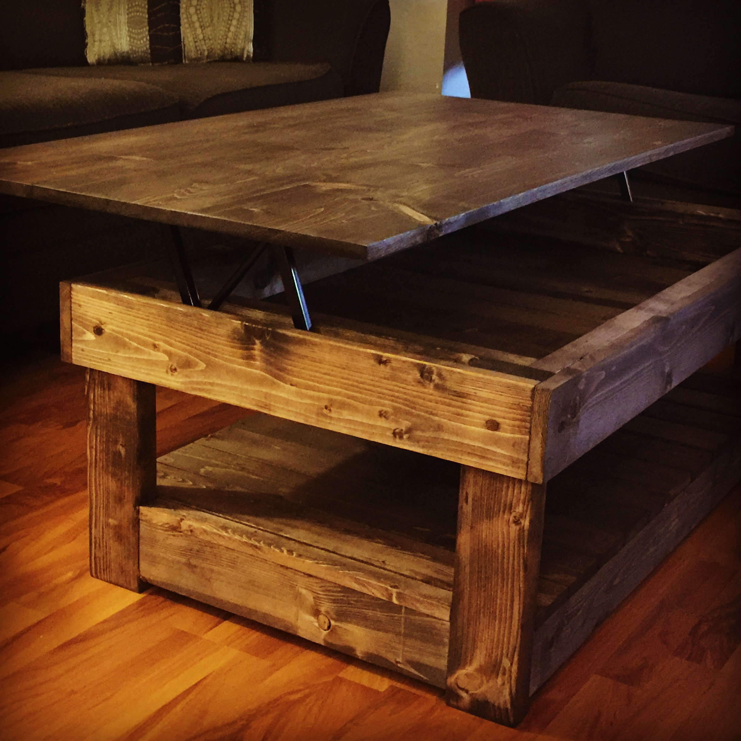Top Lift Coffee Table Rustic Lift Top Coffee Table Pine 43main