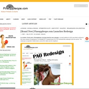 [Brand New] Pineappleope.com Launches Redesign