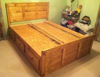 DIY King Size Captains Bed With Drawers Plans Download ...