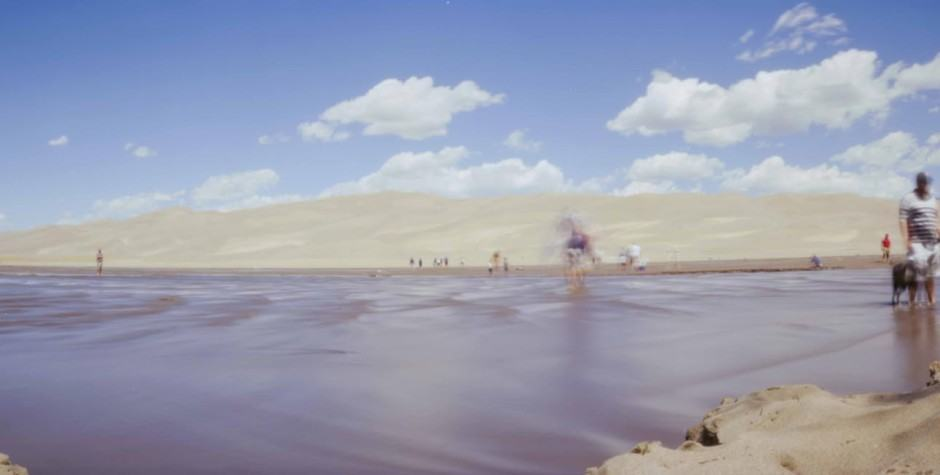 Great Sand Dunes pinhole photograph