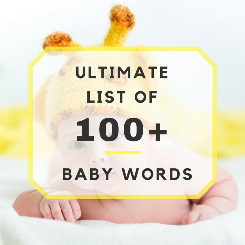 Ultimate List of 100+ Baby Words List Baby Shower Pictionary