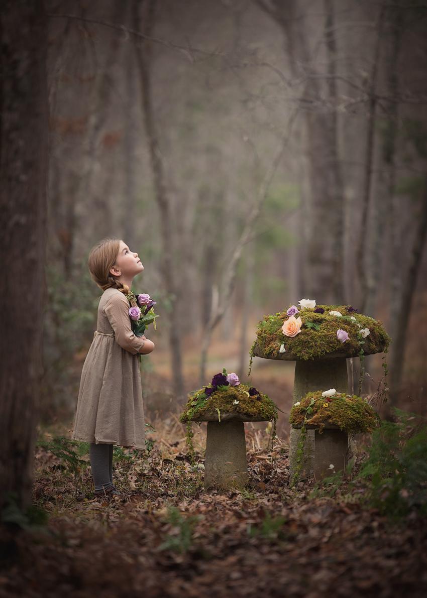 Dreamy Girl Wallpaper Fairytale Forest Fine Art Photography Child