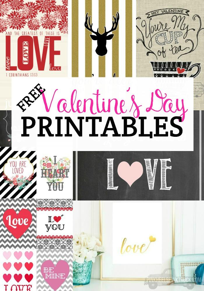 Free Valentine\u0027s Day Printables \u2022 Taylor Bradford