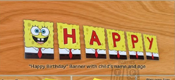 spongebob-birthday-banners-and-letterings-5 - Pink Lover
