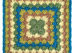 Harlequin Shells 12″ Crochet Square