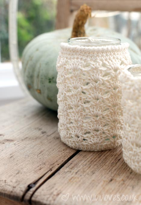Crochet Jar Covers8 Free Patterns!Pink Mambo