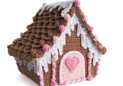 Crochet Candy Cottage Gingerbread House Tutorial Part 3