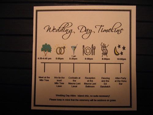 wedding timeline Pink Panda Events\u0027 Blog