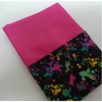 School Chair Bags | Splatter on Hot Pink | Pink Petunias