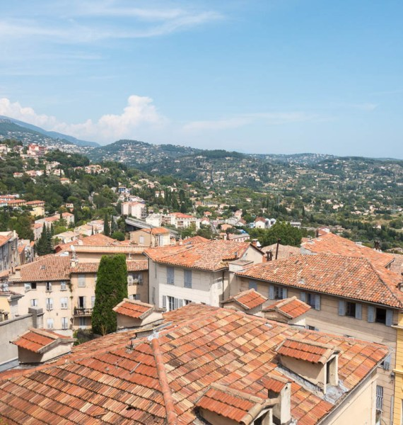 View across the rooftops of Grasse